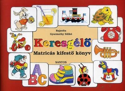 - Keresgélő - Matricás kifestő könyv