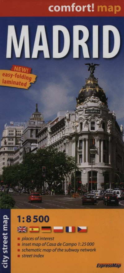 - MADRID CITY STREET MAP 1:8 500