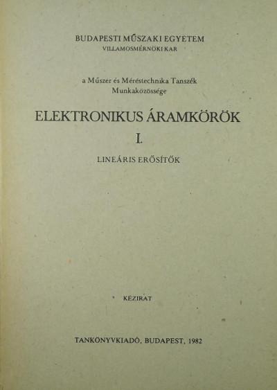 - Elektronikus áramkörök I.