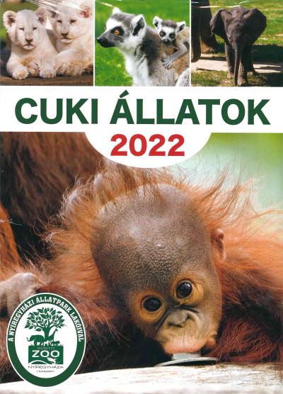 Mészáros Alexandra  (Szerk.) - Cuki állatok naptár 23x33 cm - 2022