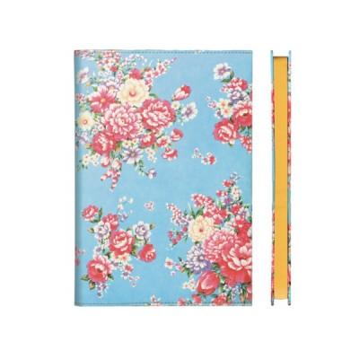 - Virágmintás jegyzetkönyv A5-ös - Kék