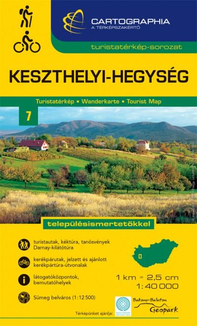 """- Keszthelyi-hegység turistatérkép 1:40000 """"SC"""""""