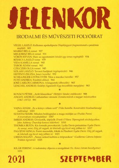 Ágoston Zoltán  (Szerk.) - Jelenkor - Irodalmi és művészeti folyóirat - 2021. szeptember