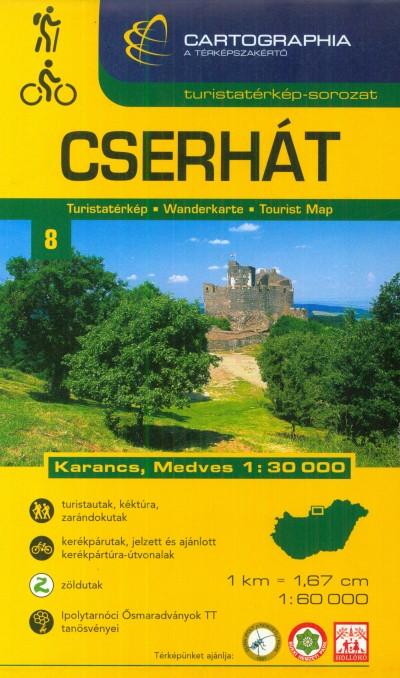 - Cserhát turistatérkép - 1:60 000