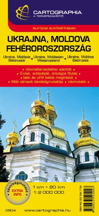 """- UKRAJNA, MOLDOVA, FEHÉROROSZORSZÁG 1:2 000 000 """"SC"""""""