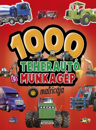 - 1000 teherautó és munkagép matricája - Piros
