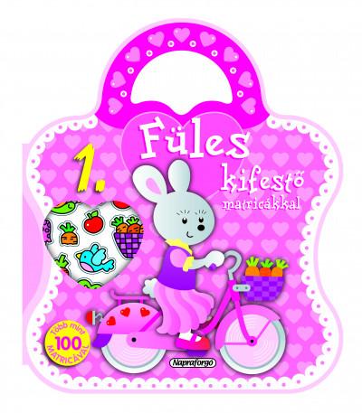 - Füles kifestő matricákkal 1. - Bicikli