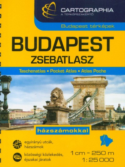 """Szalamonidesz Sándor  (Szerk.) - Szigeti Borbála  (Szerk.) - BUDAPEST ZSEBATLASZ 1:25 000 """"SC"""""""
