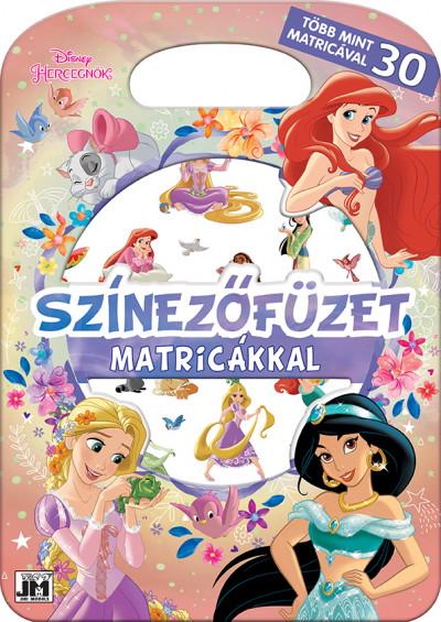 - Színezőfüzet matricákkal - Disney Hercegnők