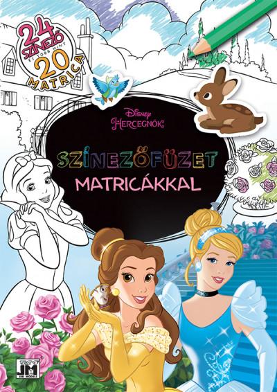 - Színezőfüzet matricákkal - Disney-hercegnők