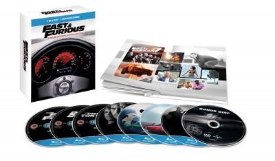 Rob Cohen - Justin Lin - John Singleton - James Wan - Halálos iramban 1-7. - limitált digibook - Blu-ray