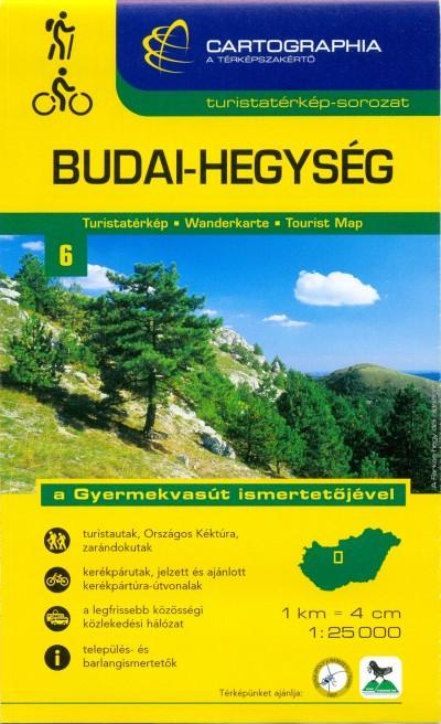 """Berki Zoltán  (Szerk.) - Kovács Attila Gyula  (Szerk.) - Budai-hegység turistatérkép 1:25 000 """"""""SC"""""""""""