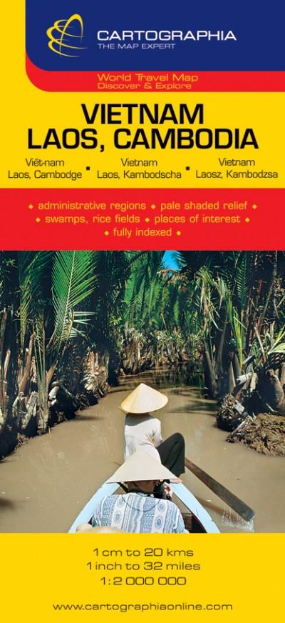 """- VIETNAM, LAOS, CAMBODIA 1:2 000 000 """"SC"""""""