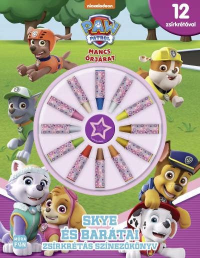 - Mancs őrjárat - Skye és barátai - zsírkrétás színezőkönyv