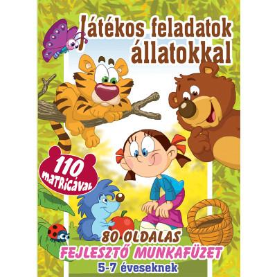 - Játékos feladatok állatokkal + 110 matrica