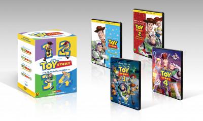 Josh Cooley - John Lasseter - Lee Unkrich - Toy Story 1-4. gyűjtemény - DVD